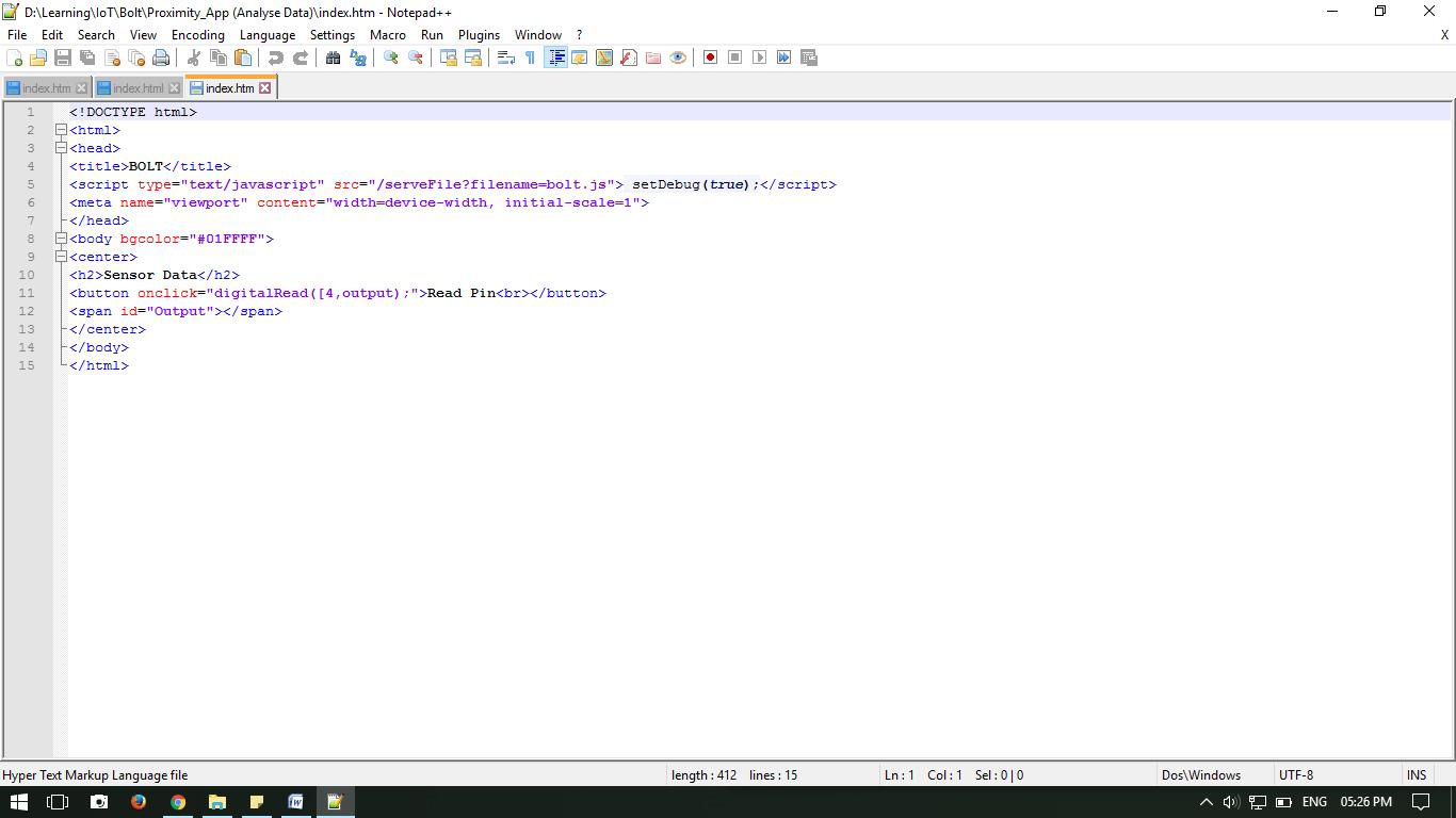 Java Script with Proximity Sensor [Resolved] - Development - Bolt Forum