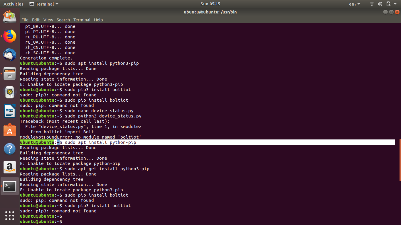 install python ubuntu pip